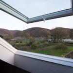 Ausblick Ferienwohnung Spay - Rhein