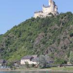 Marksburg Brauchbach Rhein - Blick von Spay